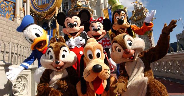 Onde encontrar os personagens na Disney
