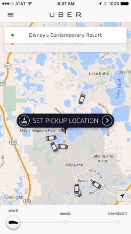 Uber em Orlando